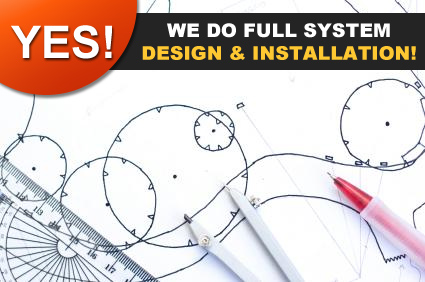 we can do full sprinkler system design and installation